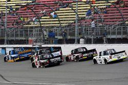 Austin Cindric, Brad Keselowski Racing Ford, Kyle Busch, Kyle Busch Motorsports Toyota and Noah Grag