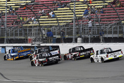 Austin Cindric, Brad Keselowski Racing Ford, Kyle Busch, Kyle Busch Motorsports Toyota and Noah Grag