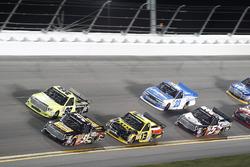 Myatt Snider, Kyle Busch Motorsports Toyota; Grant Enfinger, ThorSport Racing Toyota; Cody Coughlin,