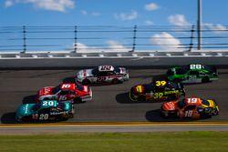 Эрик Джонс, Joe Gibbs Racing Toyota, Райан Рид, Roush Fenway Racing Ford и Брэд Кеселовски, Team Pen