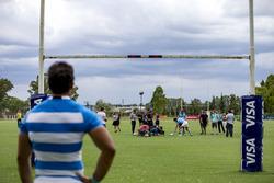 Ambiente con los jugadores de Rugby