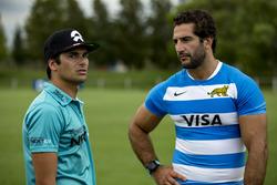 Nelson Piquet Jr., NEXTEV TCR fórmula E equipo con Juan Manuel Leguizamón, jugador de Rugby