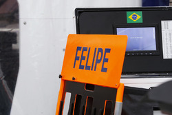 Pit board for Felipe Massa, Williams FW40 Mercedes