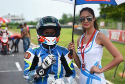 Jagan Kumar and grid girl