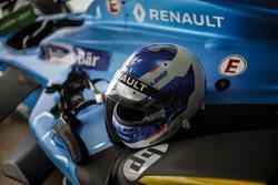Le casque de Nicolas Prost, Renault e.Dams