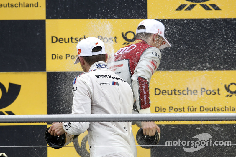 Podium: Marco Wittmann, BMW Team RMG, BMW M4 DTM and Jamie Green, Audi Sport Team Rosberg, Audi RS 5 DTM