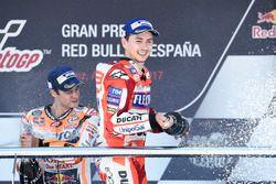 Podium: derde plaats Jorge Lorenzo, Ducati Team
