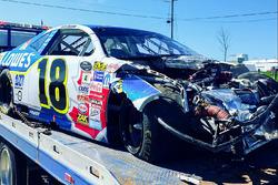 Alex Tagliani's crashed car