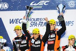 Podium LMP2: first place Roman Rusinov, Pierre Thiriet, Alex Lynn, G-Drive Racing