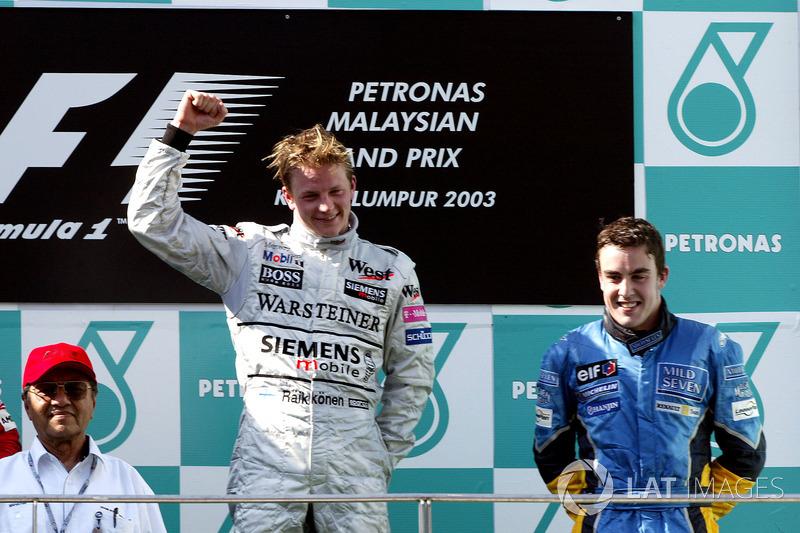 7- Kimi Raikkonen, 23 años, 5 meses y 6 días en el GP de Malasia 2003