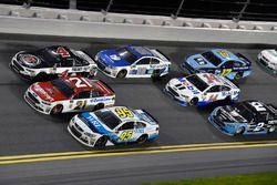 Michael McDowell, Leavine Family Racing Chevrolet, Ryan Blaney, Wood Brothers Racing Ford, Kevin Harvick, Stewart-Haas Racing Ford
