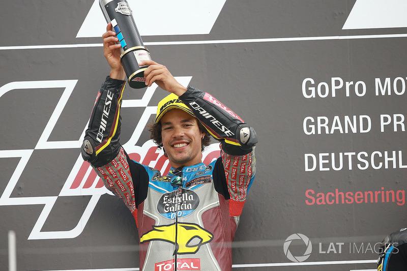 Podio: il vincitore della gara Franco Morbidelli, Marc VDS
