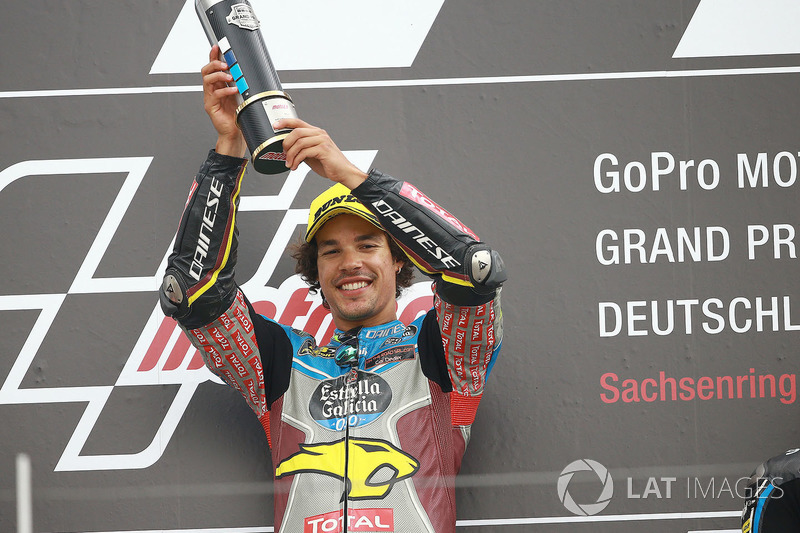 Podium: ganador, Franco Morbidelli, Marc VDS