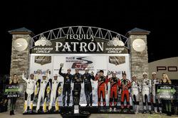 Tequila Patron North American Endurance Cup winners Podium: GTLM Winner: #3 Corvette Racing Chevrole