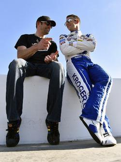 A.J. Allmendinger, JTG Daugherty Racing Chevrolet y Max Papis