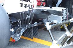 Ailettes de diffuseur de la Ferrari SF70H
