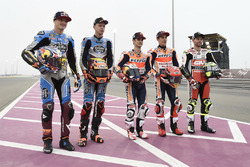 Marc Márquez, Repsol Honda Team; Jack Miller, Estrella Galicia 0,0 Marc VDS; Tito Rabat, Estrella Galicia 0,0 Marc VDS; Dani Pedrosa, Repsol Honda Team; Cal Crutchlow, Team LCR Honda