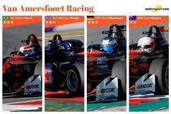 Line-up Van Amersfoort Racing 2017 : Pedro Piquet, Harrison Newey, David Beckmann, Joey Mawson