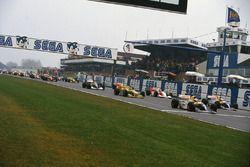 Startaufstellung zum GP Europa 1993 in Donington
