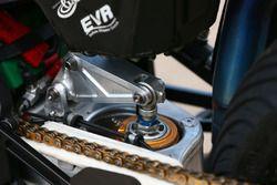 Rear suspension on the bike of Leon Camier, MV Agusta