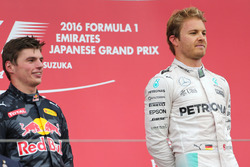 Nico Rosberg, Mercedes AMG F1 Team y Max Verstappen, Red Bull Racing