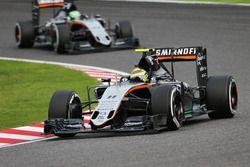 Sergio Pérez, Sahara Force India F1 VJM09 y Nico Hulkenberg, Sahara Force India F1 VJM09