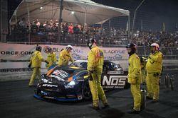 Chris Forsberg, Nissan 370Z, crashed car