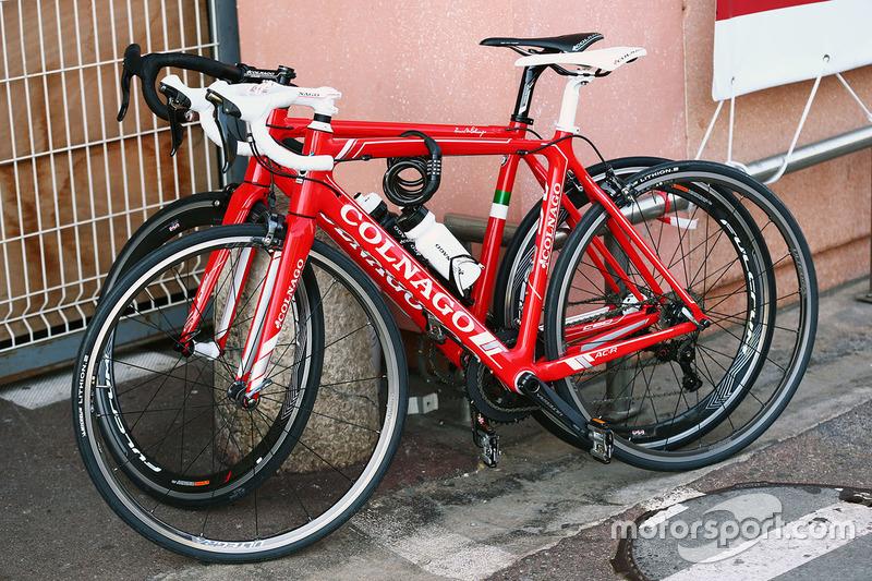 La bicicleta de Colnago montada por Sebastian Vettel, Ferrari