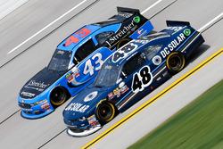 Brennan Poole, Chip Ganassi Racing Chevrolet, Jeb Burton, Richard Petty Motorsports Ford