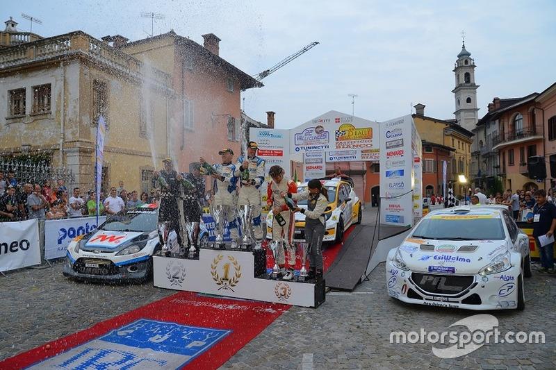 Il podio del Rally delle Valli Cuneesi