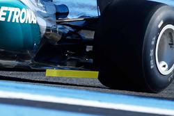Détails de l'arrière de la Mercedes AMG F1 W06 Hybrid