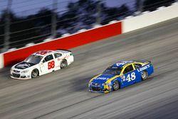 Jimmie Johnson, Hendrick Motorsports Chevrolet, Cole Whitt, Premium Motorsports Chevrolet