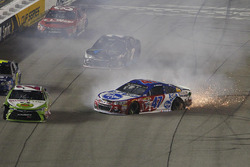 A.J. Allmendinger, JTG Daugherty Racing Chevrolet crash