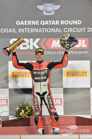 Podium: Ganador, Chaz Davies, Ducati Team