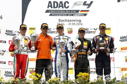 Podium: 2. Mick Schumacher, Prema Powerteam ; 1. Mike David Ortmann, Mücke Motorsport; 3. Joseph Maw