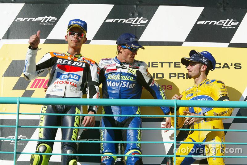Primer podio: GP de Sudáfrica 2003 (1º)