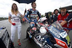 Loris Baz, Avintia Racing with a lovely grid girl