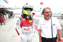 Jamie Green, Audi Sport Team Rosberg, Audi RS 5 DTM with his engineer Erich Baumgärtner