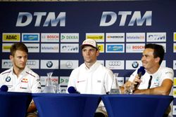 Conferencia de prensa: Marco Wittmann, BMW Team RMG, BMW M4 DTM; Jamie Green, Audi Sport Team Rosber