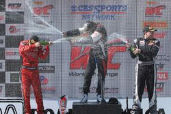 Podium: winner Brett Sandberg, second place Jeff Courtney, third place Scott Heckert