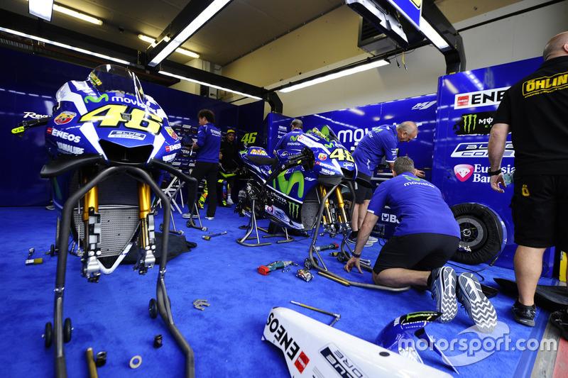 Yamaha garage at assen