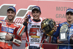 Podium: race winner Marc Marquez, Repsol Honda Team, second place Andrea Dovizioso, Ducati Team, thi