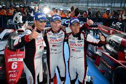 LMP1 i vincitori della gara #6 Toyota Racing Toyota TS050 Hybrid: Stéphane Sarrazin, Mike Conway, Ka