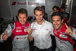 Pole setting #8 Audi Sport Team Joest Audi R18 e-tron quattro: Lucas di Grassi, Loic Duval, Oliver Jarvis