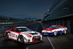 The current Nissan GT-R NISMO GT3 with the 1991 GT-R