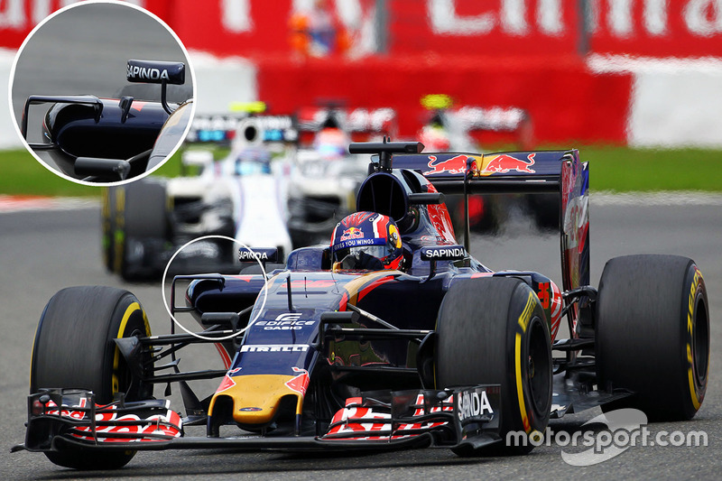 Daniil Kvyat, Scuderia Toro Rosso STR11: Seitenkasten, Detail