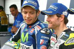 Segundo, Valentino Rossi, Yamaha Factory Racing y pole, Cal Crutchlow, Team LCR Honda