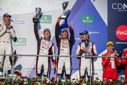 3rd place #6 Toyota Racing Toyota TS050 Hybrid: Stéphane Sarrazin, Mike Conway, Kamui Kobayashi