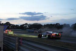 Choque de #60 Michael Shank Racing con Curb/Agajanian Ligier JS P2 Honda: John Pew, Oswaldo Negri, O