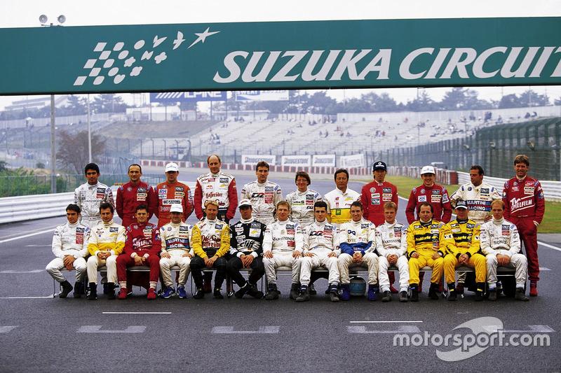 Gruppenfoto der Fahrer vor dem letzten Rennen